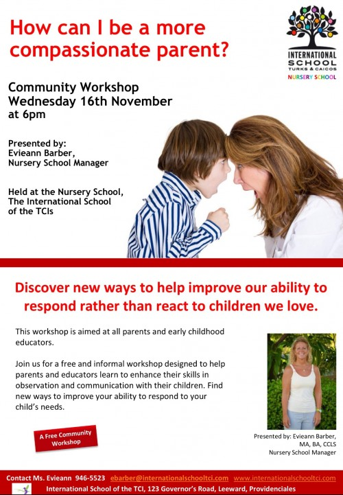 Compassionate Parent Workshop 16th November 2016