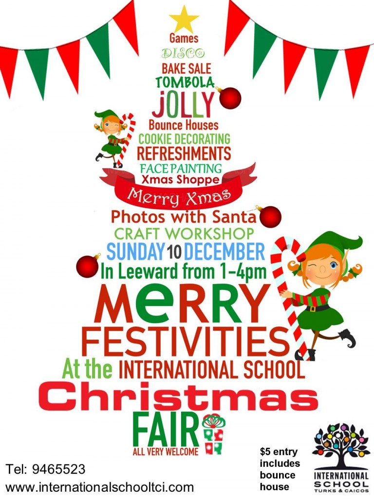 2017 ISTCI Christmas Fair Sunday 10th December Flyer